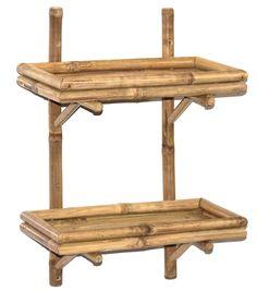 Opentip.com: Bamboo54 5865 Double Bamboo Wall Shelf