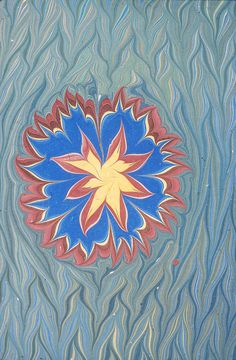 Flower, modern, Peggy Skycraft Bookbinding, Marble, Arts And Crafts, Flower, Paper, Prints, Modern, Vintage, Color