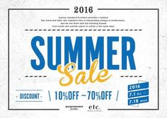 【なんばパークス店】SUMMER SALE!! | journal standard Furniture 公式ブログ