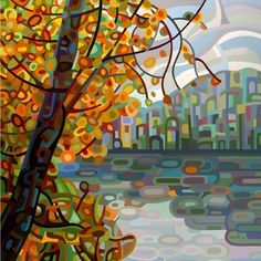 Abstract Fine Art Print  Reflections by budanART on Etsy, $18.00