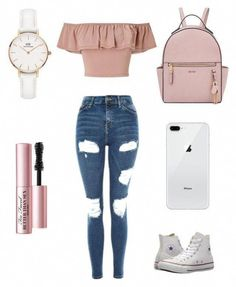 teenager outfits for school cute \ teenager outfits ; teenager outfits for school ; teenager outfits for school cute Cute Teen Outfits, Junior Outfits, Pretty Outfits, Stylish Outfits, Pretty Clothes, Cute Summer Outfits For Teens For School, Spring Outfits For Teen Girls, Middle School Outfits, Trendy Outfits For Teens