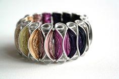 Bracelets - coffee capsule bracelet violet-purple - a designer piece of frollein-mueller on DaWanda