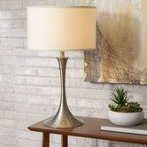 "Chad likes this one. Found it at Wayfair - Retro 27.5"" H Table Lamp with Drum Shade"