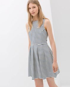 Image 2 of STRIPED BACKLESS DRESS from Zara