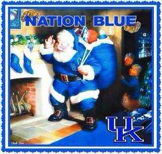 Rock that Blue Santa! Santa loves UK