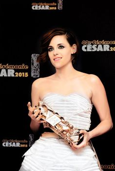 Kristen Stewart wins a 2015 French Cesar award for Clouds of Sils Maria