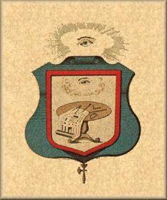 Brasão do Grau de Cavaleiro do Real Machado - Rito Escocês Antigo e Aceito