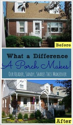 Want porch ideas? Sandy shares her new porch with us.  Front-Porch-Ideas-and-More.com #porches #porchideas
