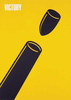 "PG022 ""Victory"" poster by Shigeo Fukuda (1975)"