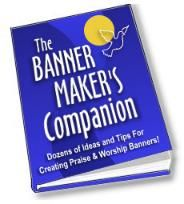 """""""The Banner Maker's Companion"""" - Help for making church banners"""