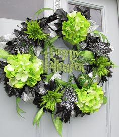 Halloween Wreath Happy Halloween Wreath by SilvaLiningDesigns