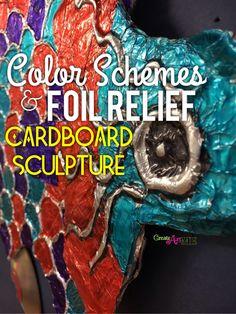 Color Schemes and Foil Relief Cardboard Sculpture