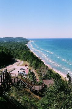 PICTURES OF Arcadia, MI. | M22 Scenic Overlook Lake Michigan Arcadia MI