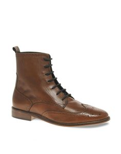 ASOS | ASOS Leather Sole Brogue Boots at ASOS