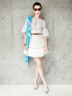 White dress #japanesefashion #ellejapon #summerstyle
