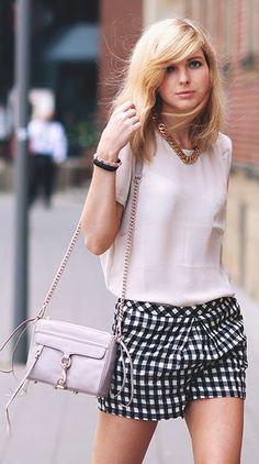 Checkered Shorts Styling