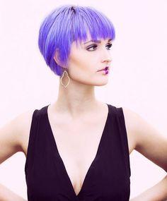 Dis is kool. Life is kool. @chadcrawfordphotog is kool.  #purple #purplehair #lavenderhair #dyeddollies #dyedgirls #bangs #dyedhair #shorthair #hairstyle #hair #pixie #hairbrained #modeling #nashvillemodel #modelwannabe #photography #makeup #lipstick #fashion