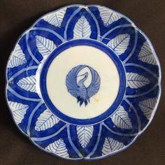 染付なます皿 鶴 /189│埼玉県花園の骨董品専門店「雑貨とちや」|印判皿・染付皿を中心に和食器を取り揃えております。