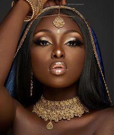 Best bridal makeup for brown eyes dark skin wedding black women Ideas Beautiful Black Girl, Black Girl Art, Black Women Art, Dark Skin Makeup, Dark Skin Beauty, Black Beauty, Black Girl Aesthetic, Black Bride, Wedding Black