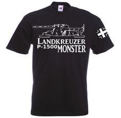 T-Shirt Landkreuzer P1500 Monster in der Farbe schwarz / mehr Infos auf: www.Guntia-Militaria-Shop.de