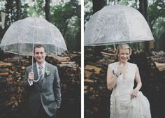 rainy day wedding photos.