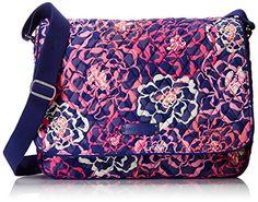 Vera Bradley Laptop Messenger Bag, Katalina Pink, One Size