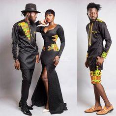 BigBrotherAfrica's Elikem Kumordzie The Tailor Releases The Kentelization… African Inspired Fashion, African Print Fashion, Africa Fashion, Fashion Prints, Fashion Design, African Prints, African Wear, African Attire, African Women