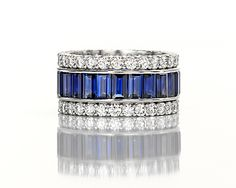 saphires and diamonds.... close to the one i have! :)