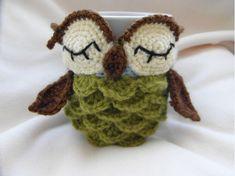 Ravelry: Owl mug cozy pattern..Are you kidding?! I'm loving this!