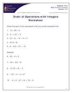 40 best gr 8 math images on pinterest math charts classroom and number sense numeration grade 8 order of operations ibookread ePUb