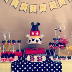 Mickey Mouse Birthday Party and cake!