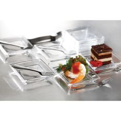 Serve up tasty hors d'oeuvres, tapas and desserts in style with the Soho Taster set. This elegant set includes six plates, six forks and a recipe card. Known for the quality, durability and style, the Style Setter Collection will serve you well.