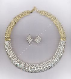 Champagne and Ice Diamond necklace and earrings