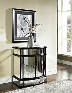 Mirrored 2 Door 1 Drawer Console - Homeclick Community