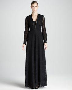 Robe longue - noir Siyah uzun elbise