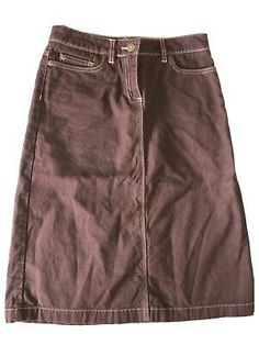 BODEN 100% Brushed Cotton Brown Casual Style Skirt Size 8L. | eBay Boden Uk, Mini Boden, Black Denim Shorts, Casual Shorts, Skirt Fashion, Im Not Perfect, British, Best Deals, Brown
