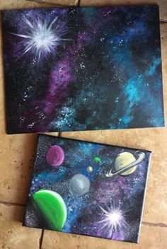 How To Paint A Galaxy Step By Step Painting For Beginners is part of Galaxy painting - Learn how to paint a galaxy with acrylic paint using a sponge This easy beginner painting tutorial has full process pictures and a free video Galaxy Painting Acrylic, Acrylic Painting Tutorials, Watercolor Galaxy, Space Painting, Sky Painting, Diy Galaxy, Galaxy Art, Galaxy Space, How To Paint Galaxy
