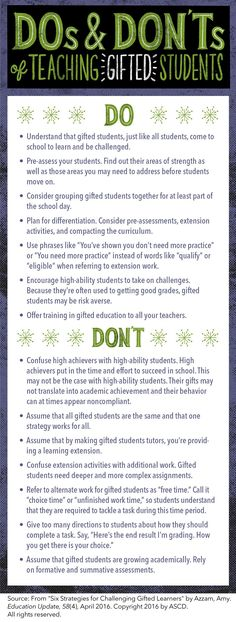 Dos and Don'ts of Teaching Gifted Students