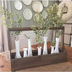 """220 Likes, 8 Comments - Vintage Farmhouse Finds (@vintagefarmhousefinds) on Instagram: """"Our best selling Wooden Planter Boxes are so versatile - use them as a table centerpiece filled…"""""""
