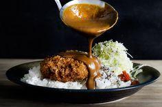 menchi katsu kare/ hamburger croquette w Japanese curry sauce