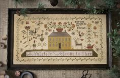 Lakeside Linens: Plum Street Samplers A Yuletide Welcome