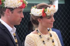 Britain's Prince William (L) and his wife Catherine (R), the Duchess of Cambridge, visit the Tuvalu Campus of the University of the South Pacific during their visit to Funafuti on September 18, 2012. Nearly half the population of 10,500 turned out to greet the future king and his wife