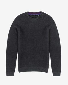 Rib panelled jumper - Charcoal | Exclusive AW15 Preview Collection | Ted Baker UK