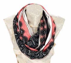 Peach Beige Scarf Valentines Day Gift Jersey Knit by HeraScarf, $24.90