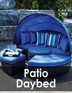 Kick back and relax in your backyard or your patio with an outdoor day bed.