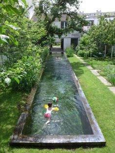 Agence GRUE - private garden with swimming pool # .- Agence GRUE – privater Garten mit Schwimmbad Agence GRUE – private garden with swimming pool … – garden design - Small Backyard Pools, Small Pools, Swimming Pools Backyard, Swimming Pool Designs, Backyard Landscaping, Backyard Designs, Backyard Ideas, Backyard Ponds, Indoor Pools