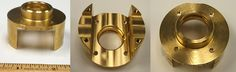 This Brass Cable Housing is precision machined to standards.
