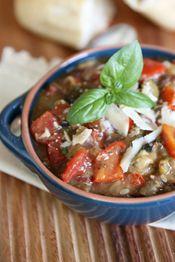 Slow Cooker Ratatouille - pretty quick and easy.  Also healthy and supposed to be delicious!  Can't wait to try!  Perfect summer meal as it's all veggies.