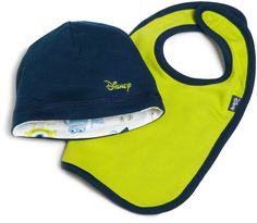 Disney Baby-Boys Newborn Disney Pixar Monsters, Inc Reversible Cap and Bib Set