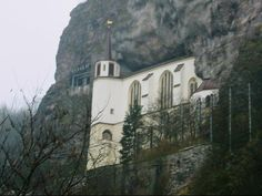 Idar Oberstein Germany, the church was built right into the mountain